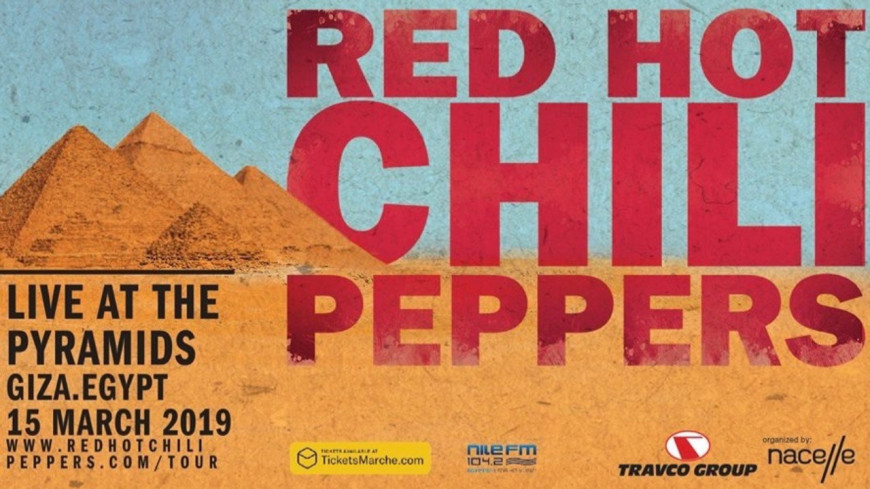 Les Red Hot Chili Peppers en concert en Egypte : Regardez le show en live
