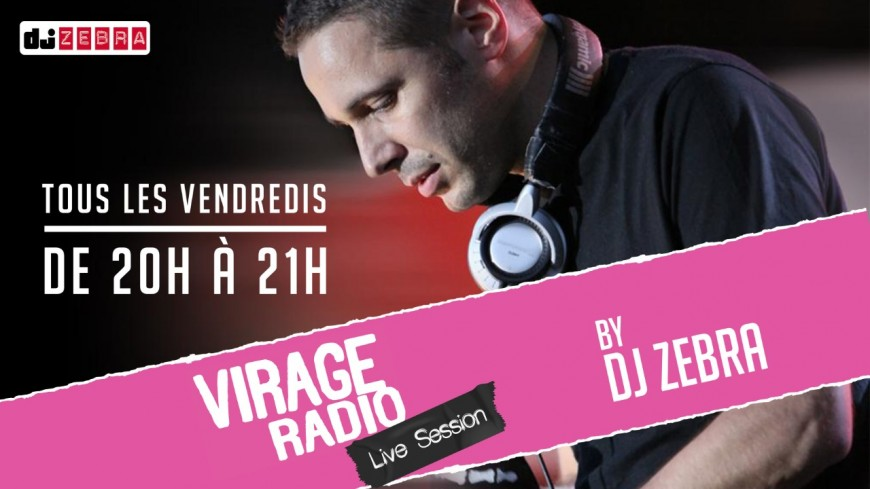DJ Zebra mixent sur Virage Radio