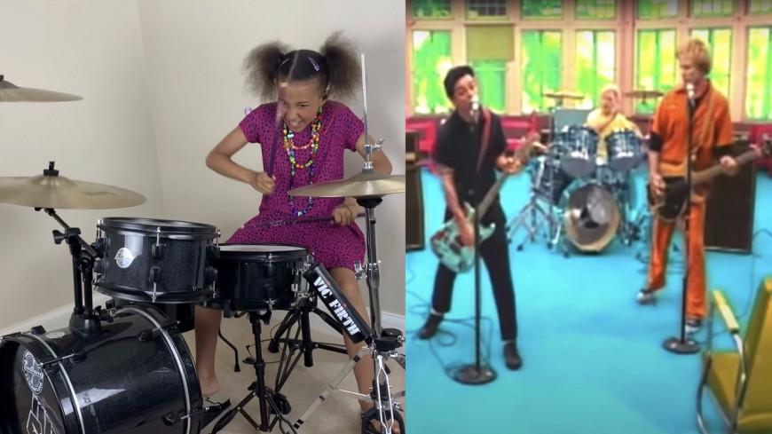 """À 10 ans, elle joue """"Basket Case"""" (Green Day) à la batterie (vidéo)"""