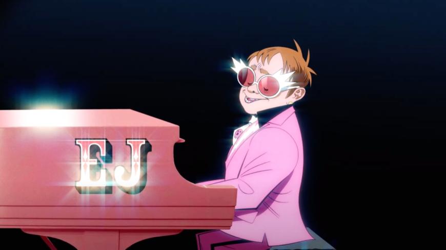 """""""The Pink Phantom"""", le nouveau morceau de Gorillaz et Elton John ! (vidéo)"""