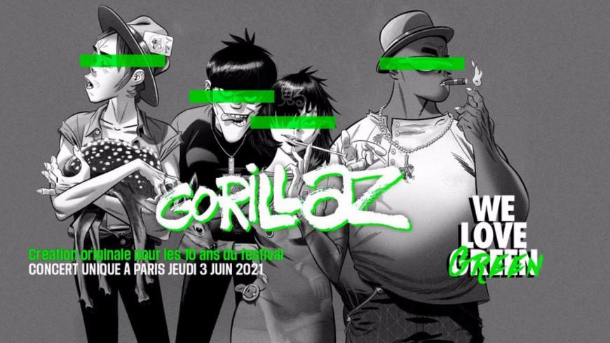 Gorillaz : le groupe sera présent au festival We Love Green