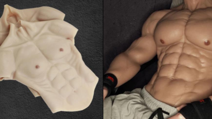 Découvrez les muscles en silicone pour ceux qui n'aiment pas le sport ! (photos)